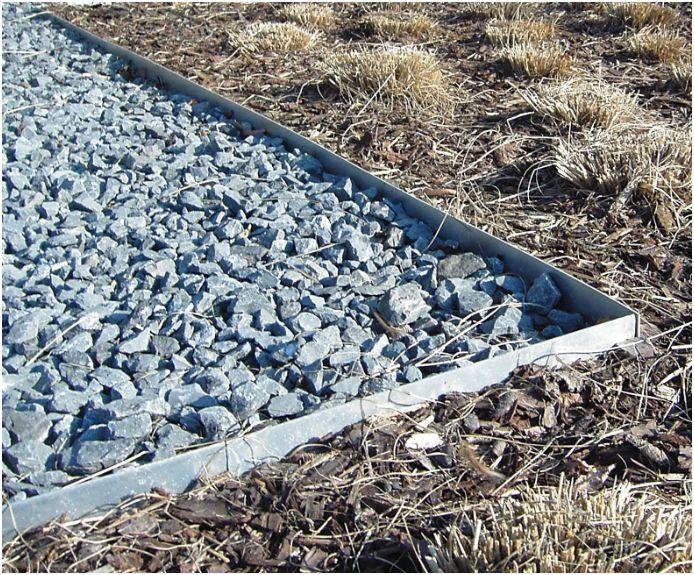 Metalborder Aluminium 3m - 15cm H