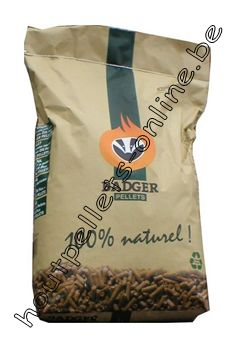 Houtpellets Badger DIN Plus 15 kg