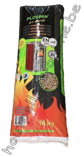 Houtpellets Plospan DIN Plus - EN+A1 - 14 kg