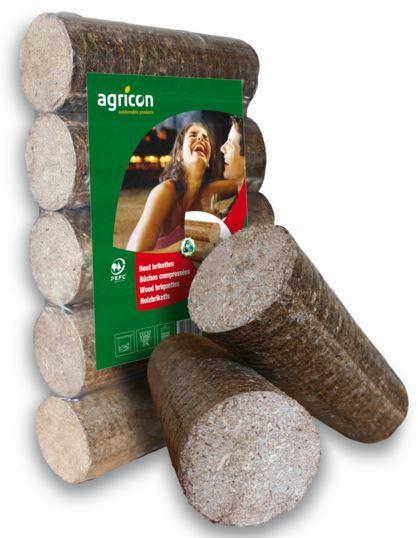 Houtbriketten - ronde - hardhout 10 kg