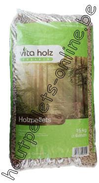 Houtpellets Vita Holz DIN Plus - EN+A1 - 15 kg